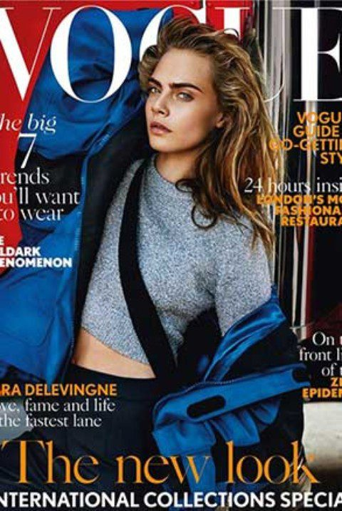 Cara Delevingne Covers British Vogue September 2016 Edition