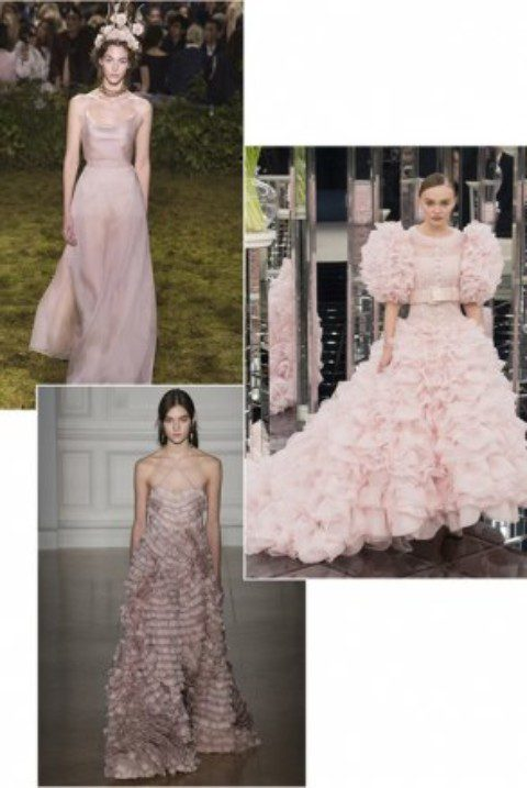 Pretty in pink: the wedding gown trend seen at Couture Week