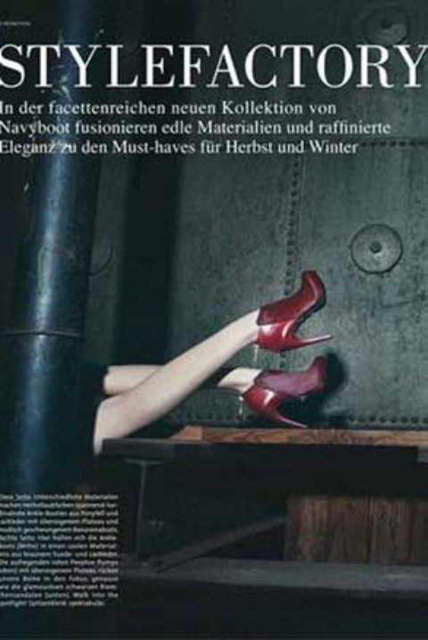 "New editorials shot by SABINE LIEWALD for NAVYBOOT (Vogue Promotion) and ""DIE PRESSE"""