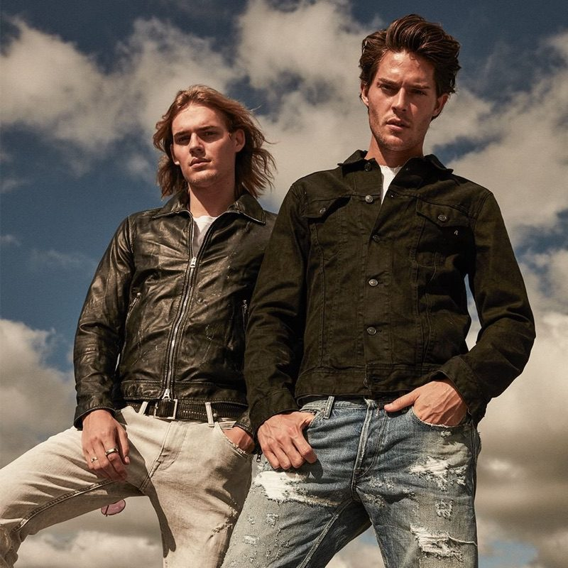 Models Ton Heukels and Cesar Casier come together for Replay's spring-summer 2019 campaign.